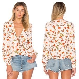 LOVERS + FRIENDS Hermosa Floral Top Blouse